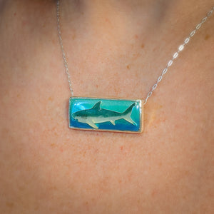 Rectangle Shark Pendant
