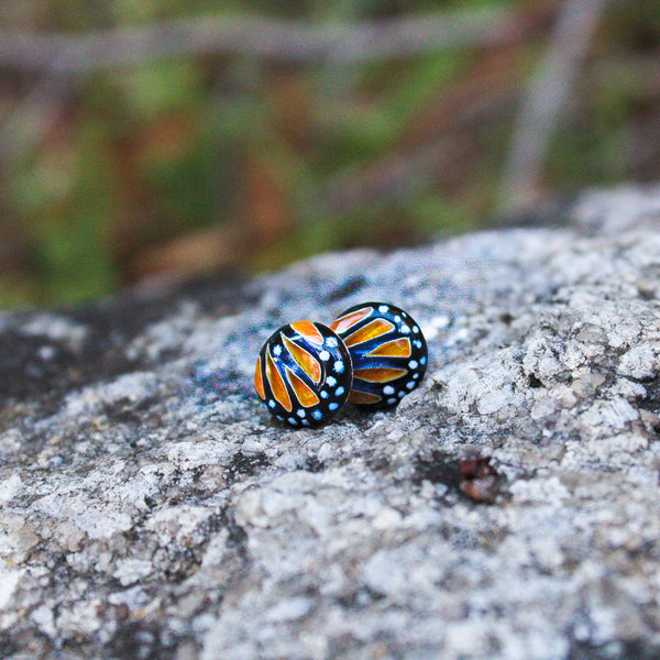 Monarch Butterfly Studs
