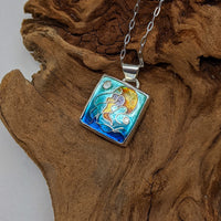 Square Jellyfish Pendant