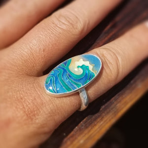 Wave Oval Ring