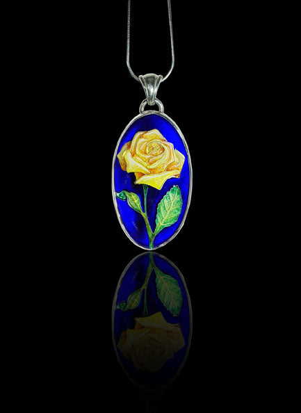 Yellow Rose Pendant
