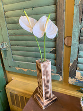 Load image into Gallery viewer, Anthurium in cedar vase