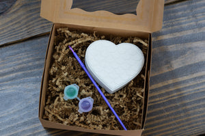 Mermaid Heart Paint Your Own Bath Bomb