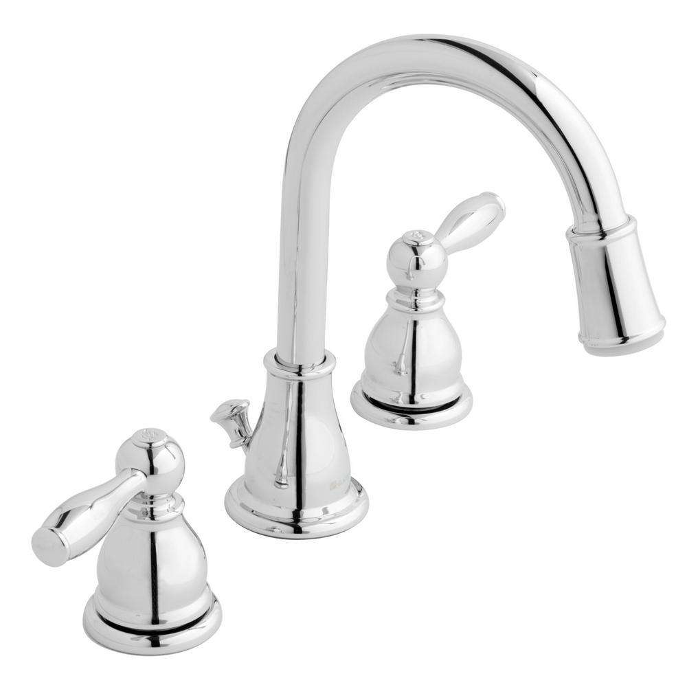 ERVS |™ Modern 8 in. Widespread 2-Handle LED High-Arc Bathroom Faucet