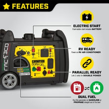 Load image into Gallery viewer, Champion 3100-Watt Dual Fuel Inverter W/ Parallel Kit