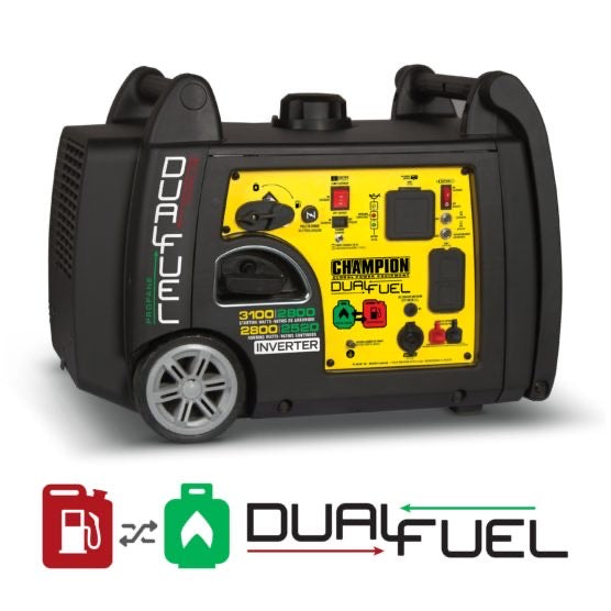 Champion 3100-Watt Dual Fuel Inverter W/ Parallel Kit