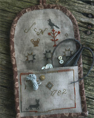 1782 Wall Pocket Pattern Sampler |  Cross Stitch | Stacy Nash Primitives
