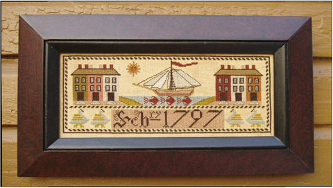 1797 Ship Sampler | Cross Stitch | Carriage House Samplings