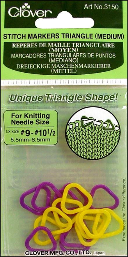 Clover Triangle Stitch Markers knitting
