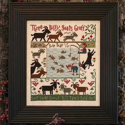 3 Billy Goats Gruff | Book No. 179 | Cross Stitch | Prairie Schooler