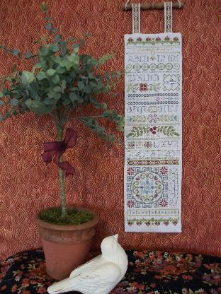 Oriental Garden Sampler Cross Stitch | C-009 | Rosewood Manor