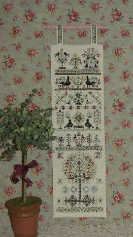 Sixteen Birds Sampler Cross Stitch | C-011 | Rosewood Manor