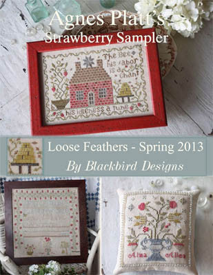 Agnes Platt Strawberry Sampler | Cross Stitch | Blackbird Designs