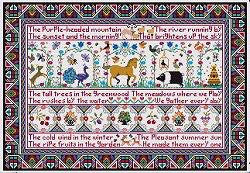 All Thing Bright and Beautiful II Reproduction Sampler Cross Stitch | Long Dog Designs