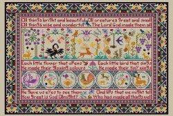 All Thing Bright and Beautiful Reproduction Sampler Cross Stitch | Long Dog Designs