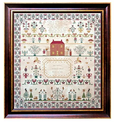 Ann Forfitt 1812 | Reproduction Sampler Cross Stitch Chart | Hands Across The Sea Samplers