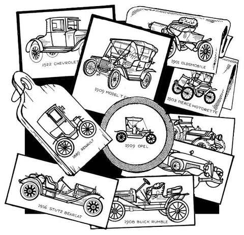 Antique Cars Hot Iron Transfers | Aunt Martha's
