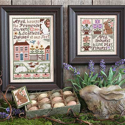 April | Book No. 152 | Cross Stitch | Prairie Schooler