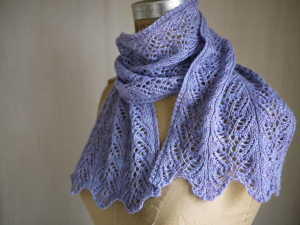 Aria Delicato Lace Scarf Knitting Pattern Knitspot Gypsy Wools