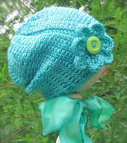Artifice Baby Slouch Hat Crochet Pattern | OneLoopShy Designs