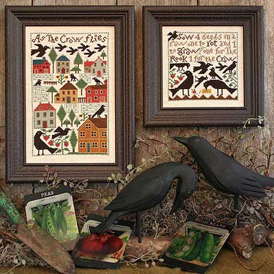 As The Crow Flies | Book No. 170 | Cross Stitch | Prairie Schooler