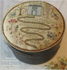 Long and Winding Road | Pincushion | Cross Stitch | Blackbird Designs