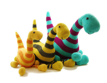 Basil the Boogie Woogie Brontosaurus Knitting Pattern | Danger Crafts