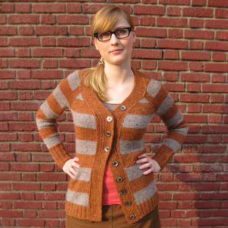 Bergen Street Cardigan Sweater Knitting Pattern | Knit Darling/Alexis Winslow