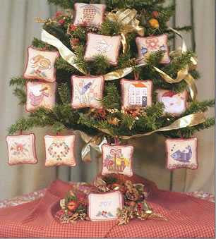 Best Wishes Christmas Ornaments Cross Stitch | Rosewood Manor