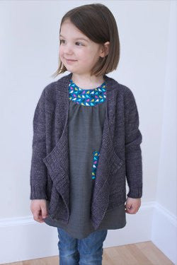 Bitty Breezy Children's Cardigan | Never Not Knitting Press (NNK)