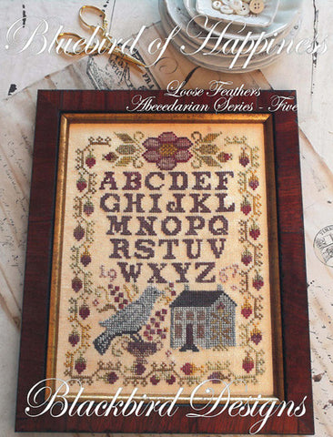 Bluebird of Happiness Sampler | Cross Stitch | Blackbird Designs