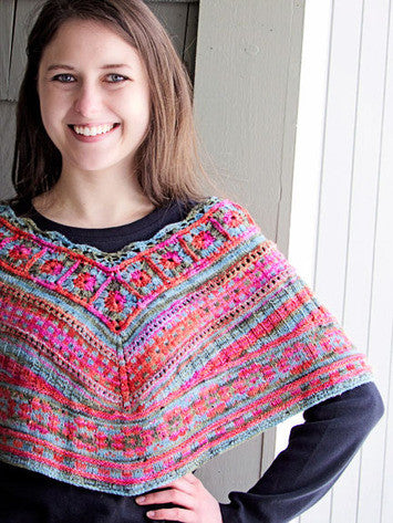 Bohemia Mini Poncho Knitting Pattern | Knit One Crochet Too
