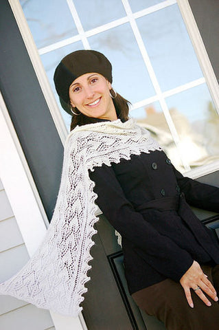 Botanie Lace Scarf Knitting Pattern | Knit One Crochet Too