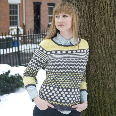 Brewster Pullover Sweater Knitting Pattern | Knit Darling/Alexis Winslow