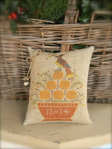 Cedar Waxwing Sampler | Cross Stitch | Notforgotten Farm