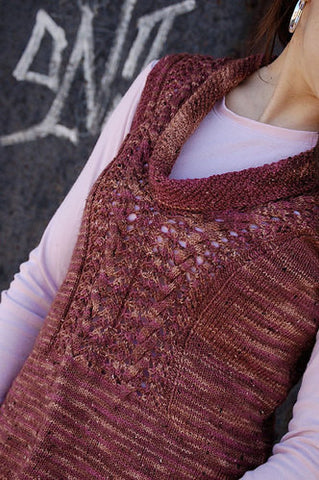 Coralie Vest Top Knitting Pattern | Knit One Crochet Too
