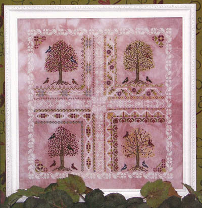 Crabapple Tree Reproduction Sampler Cross Stitch | Rosewood Manor