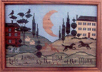 Dance by the Light of the Moon Primitive Cross Stitch | Primitive Traditions