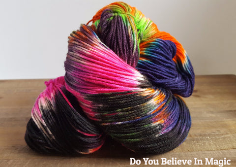 Over The Moon Sock Weight Yarn | The Hummingbird Moon