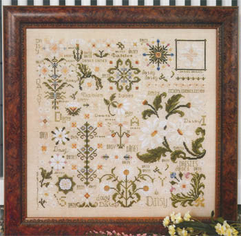 Dreaming of Daisies Sampler Cross Stitch | S-1045 | Rosewood Manor