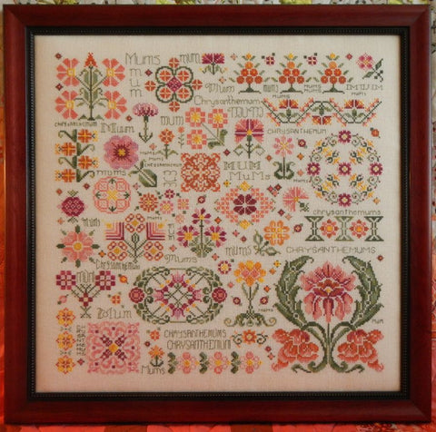 Dreaming of Mums Sampler Cross Stitch | S-1065 | Rosewood Manor