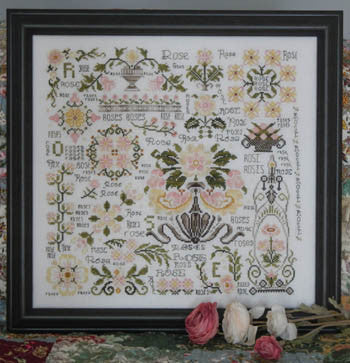 Dreaming of Roses Sampler Cross Stitch | S-1047 | Rosewood Manor