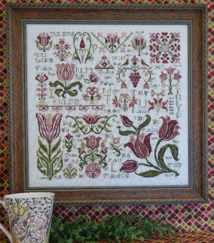 Dreaming of Tulips Sampler Cross Stitch | S-1043 | Rosewood Manor