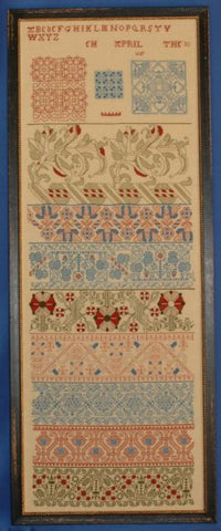 Early 17th Century | English Pattern Band Sampler | Scarlet Letter