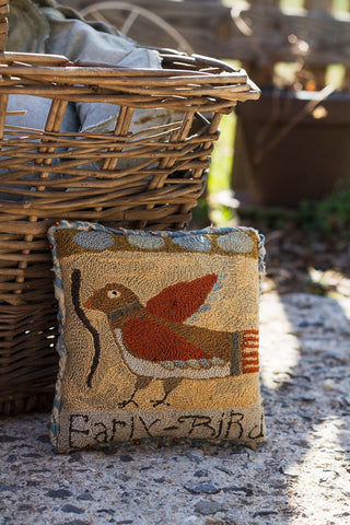 Early Bird Sawdust Pillow | Punch Needle Pattern | Notforgotten Farm