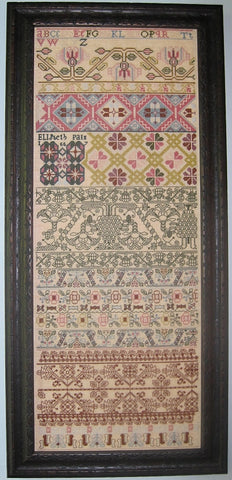 Elizabeth Pain Sampler Reproduction | Scarlet Letter