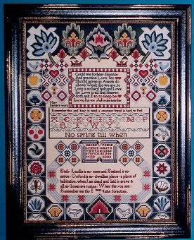 Emily Lucille Sampler Cross Stitch | Scarlet Letter – Gypsy Wools