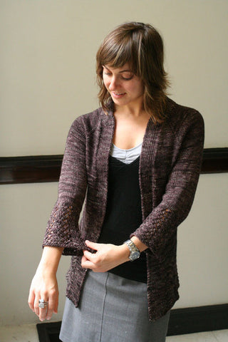 Every Last Yard Cardigan Knitting Pattern | Indigirl