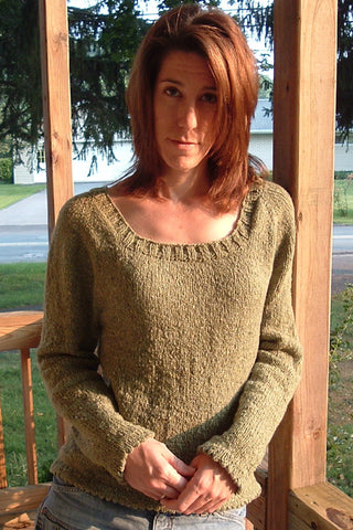 Everyday Tweed Raglan Pullover Knitting Pattern | Marie Grace Designs