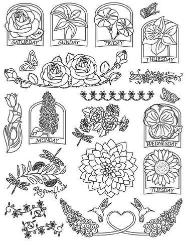 Fanciful Flowers Hot Iron Transfers | Aunt Martha's